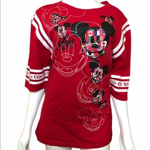 Disney Epcot Mickey Mouse Multi-Face Flag Shirt XL